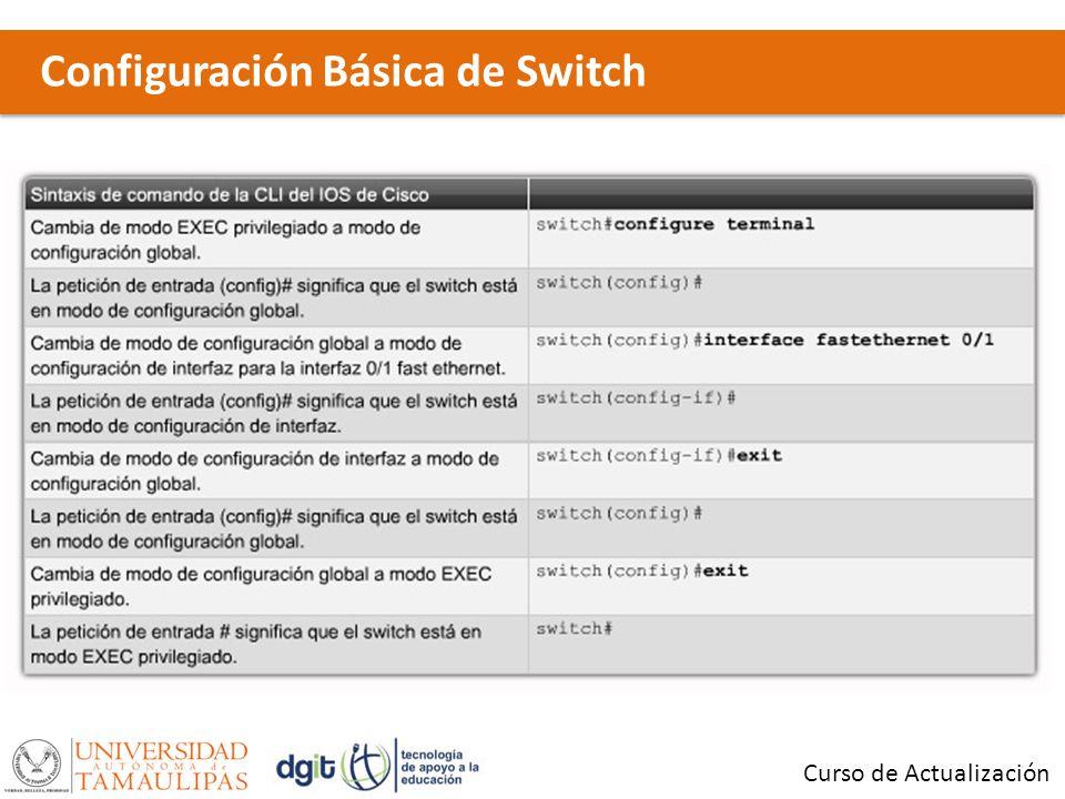 Configuración Básica de Switch Curso de Actualización