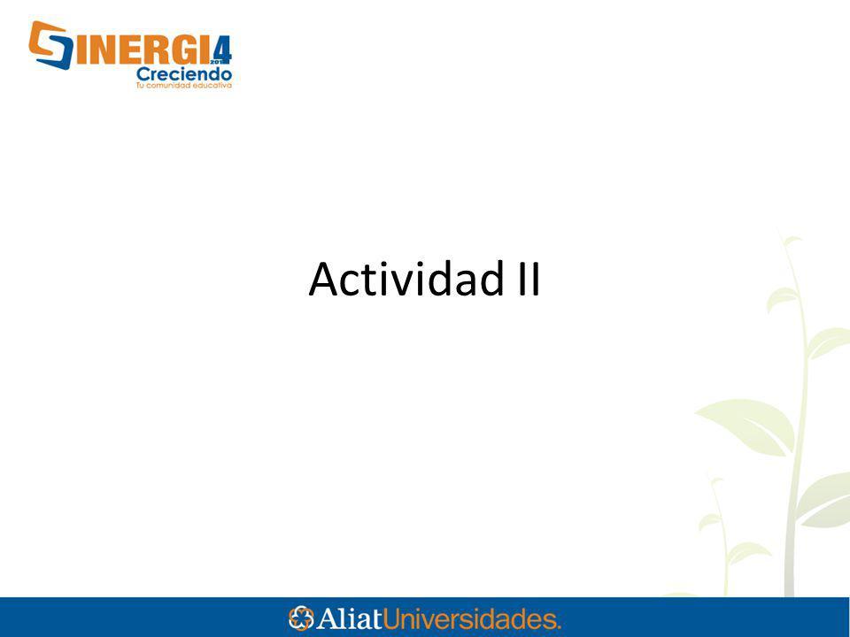 Actividad II