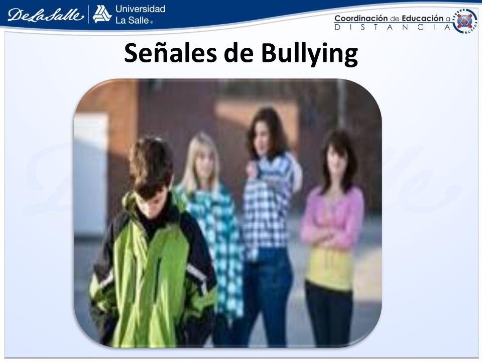 Señales de Bullying