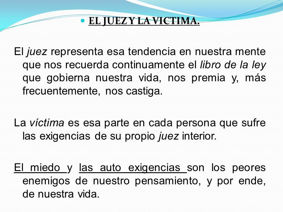 EL JUEZ Y LA VICTIMA.