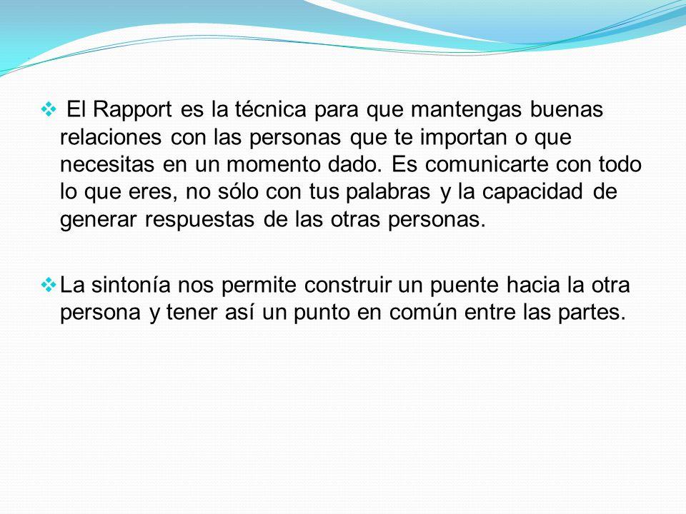 Sintonía O Rapport.