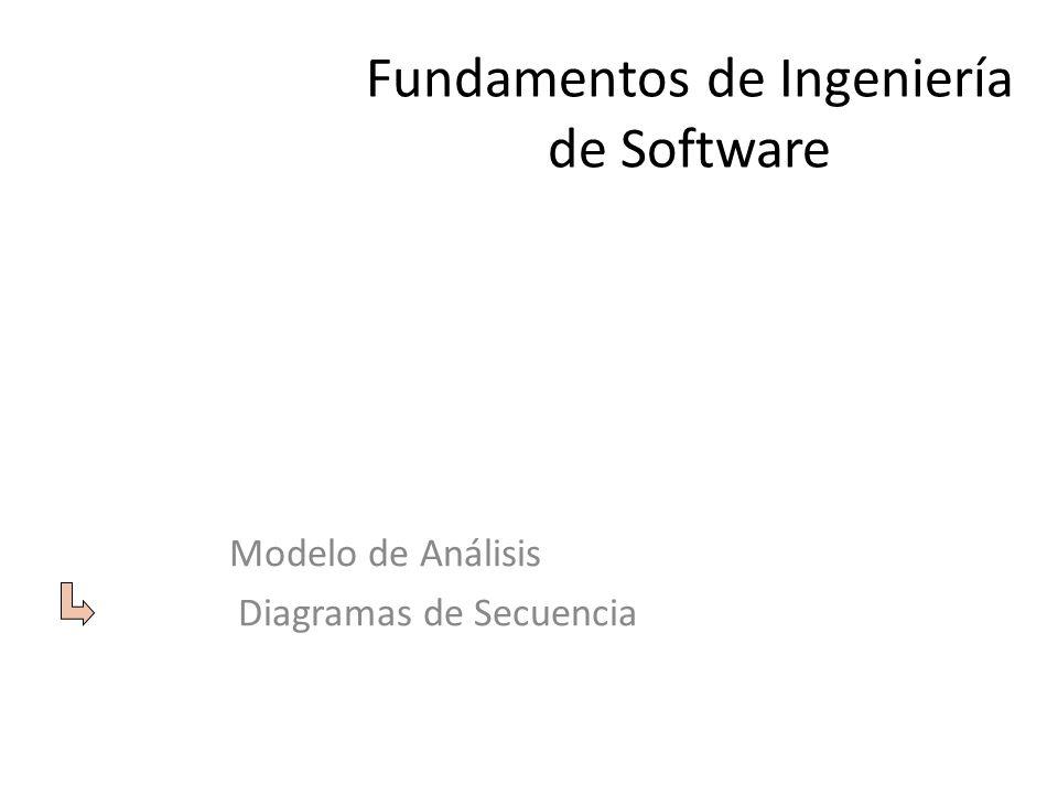 Fundamentos de Ingeniería de Software Modelo de Análisis Diagramas de Secuencia