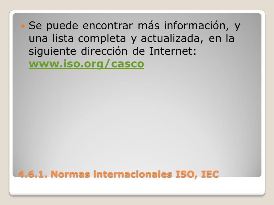 Se puede encontrar más información, y una lista completa y actualizada, en la siguiente dirección de Internet: www.iso.org/casco www.iso.org/casco