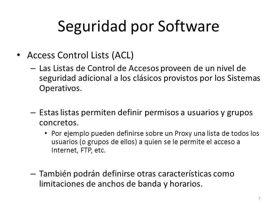 Seguridad por Software Access Control Lists (ACL) – Las Listas de Control de Accesos proveen de un nivel de seguridad adicional a los clásicos provist