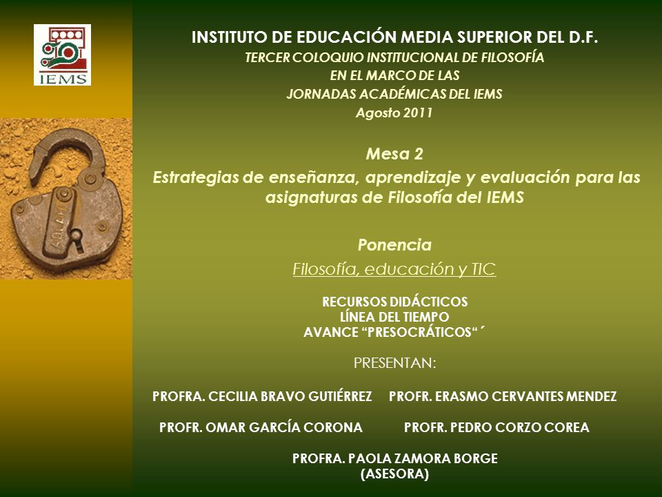 INSTITUTO DE EDUCACIÓN MEDIA SUPERIOR DEL D.F.