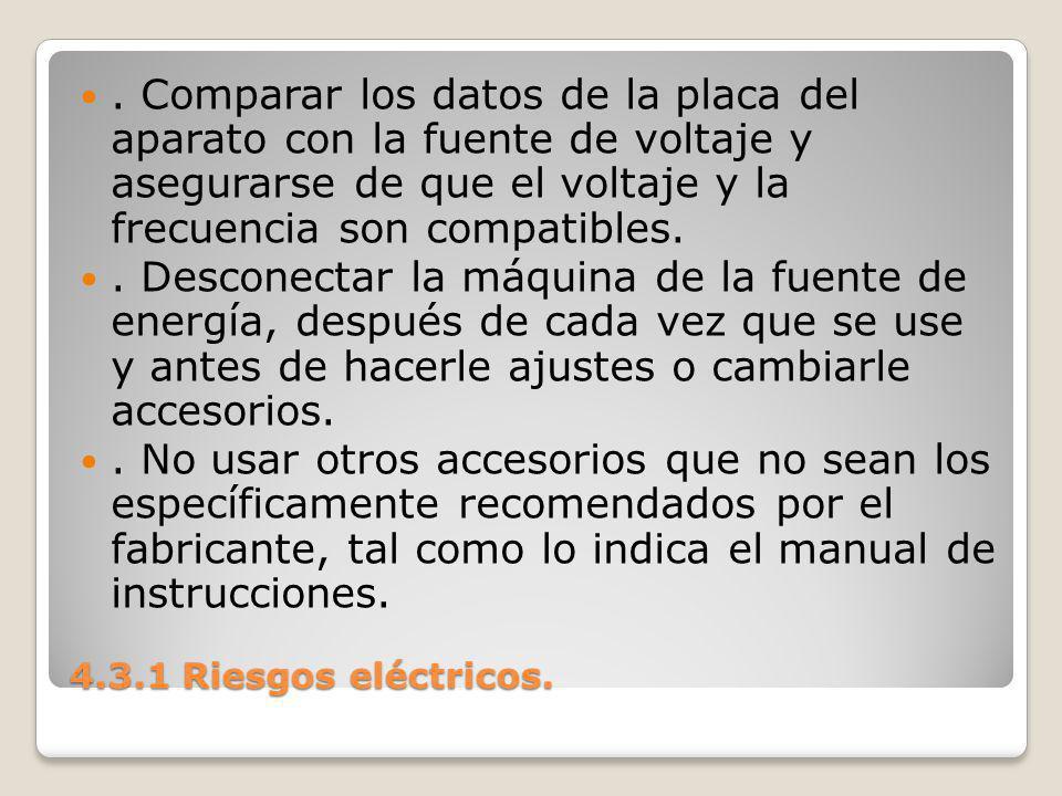 4.3.1 Riesgos eléctricos..