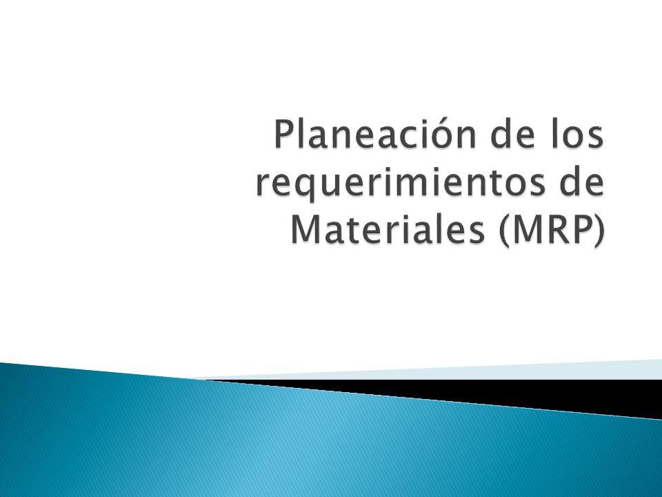 El MRP, es un sistema de planificación de la producción y de gestión de inventarios que responde a las preguntas: ¿qué.