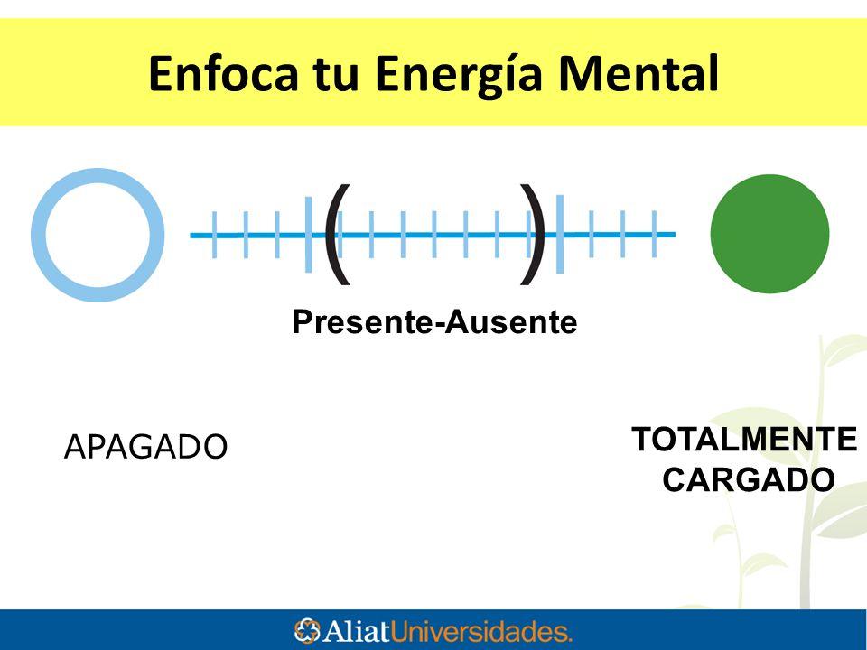 APAGADO TOTALMENTE CARGADO Enfoca tu Energía Mental Presente-Ausente