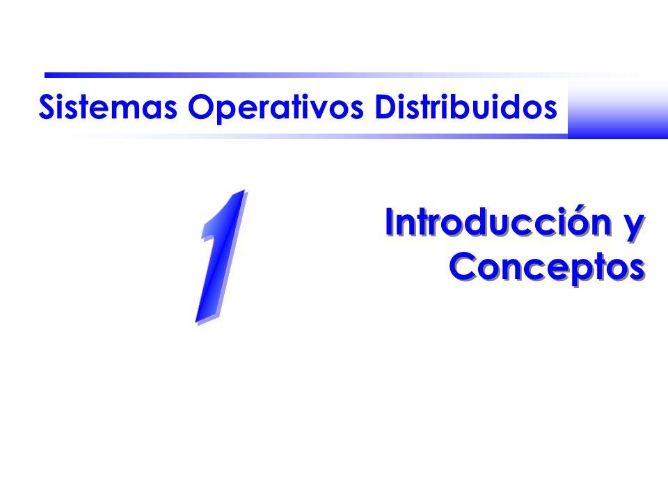 Sistemas Operativos Distribuidos Introducción y Conceptos