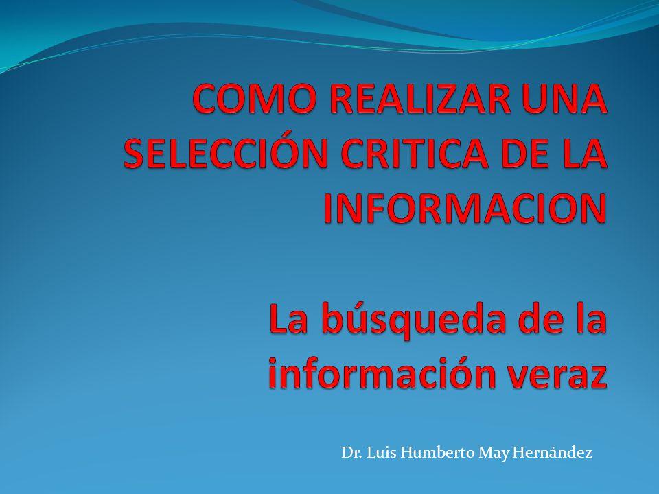Dr. Luis Humberto May Hernández