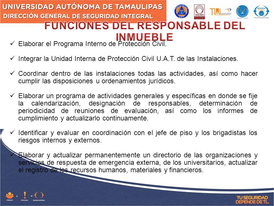 Elaborar el Programa Interno de Protección Civil.