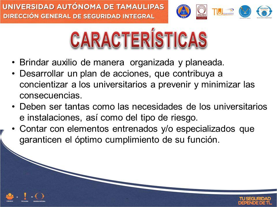 Coordinarse con otras corporaciones (bomberos, cruz roja, policía, protección civil municipal y estatal, etc.) para proporcionar el auxilio en forma integrada.