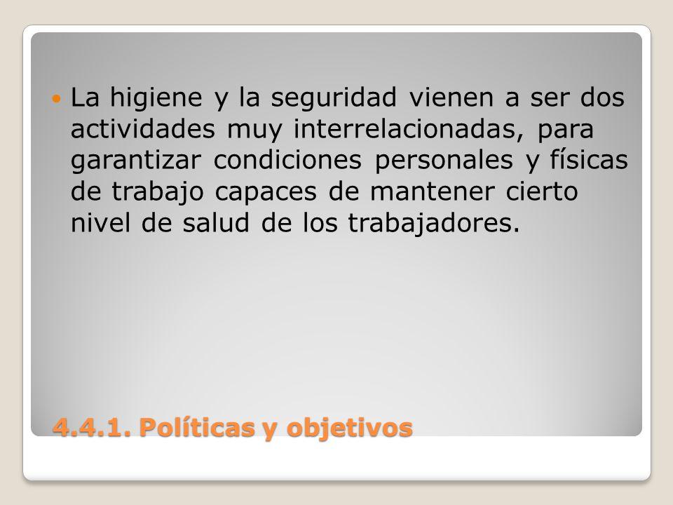 4.4.1.Políticas y objetivos 4.4.1. Políticas y objetivos POLÍTICAS DEL PROGRAMA.