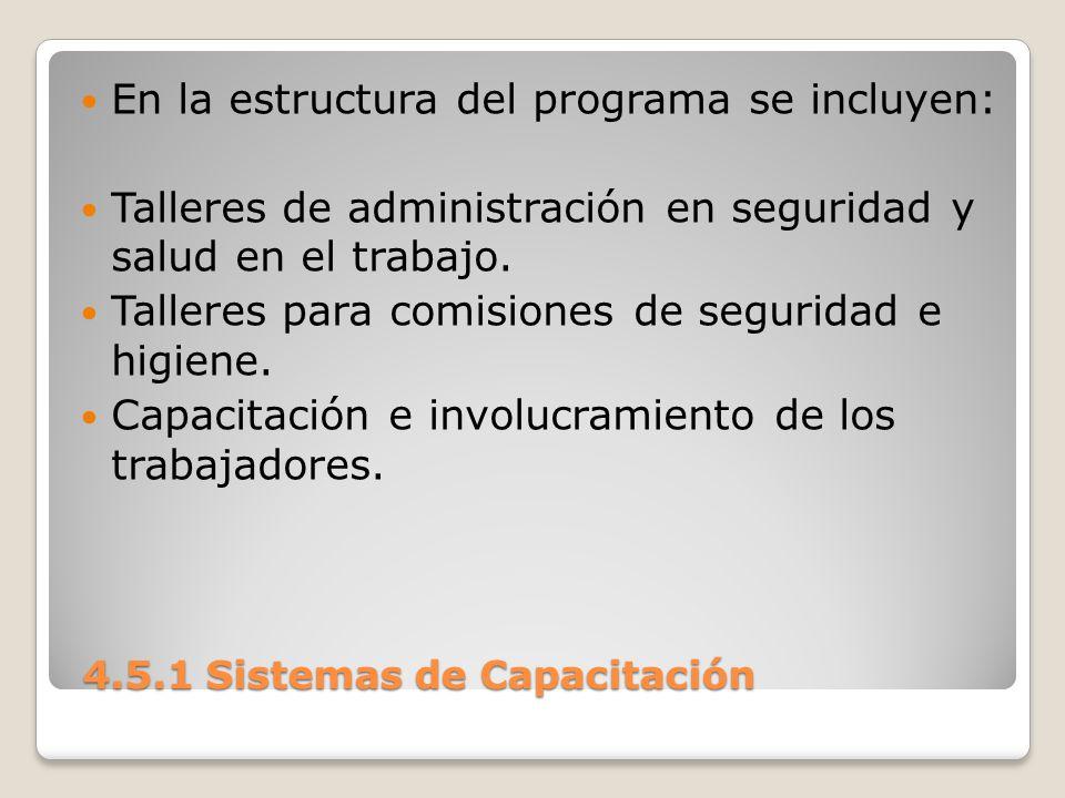4.5.1 Sistemas de Capacitación 4.5.1 Sistemas de Capacitación FORMACIÓN DE RECURSOS HUMANOS.