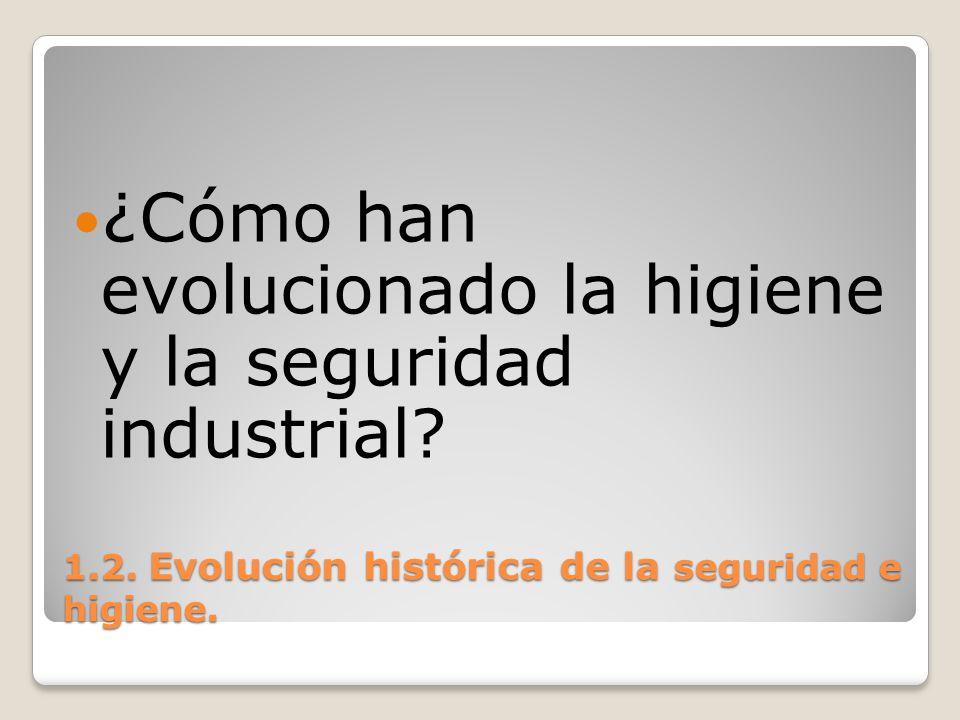 1.2. Evolución histórica de la seguridad e higiene. ¿Cómo han evolucionado la higiene y la seguridad industrial?