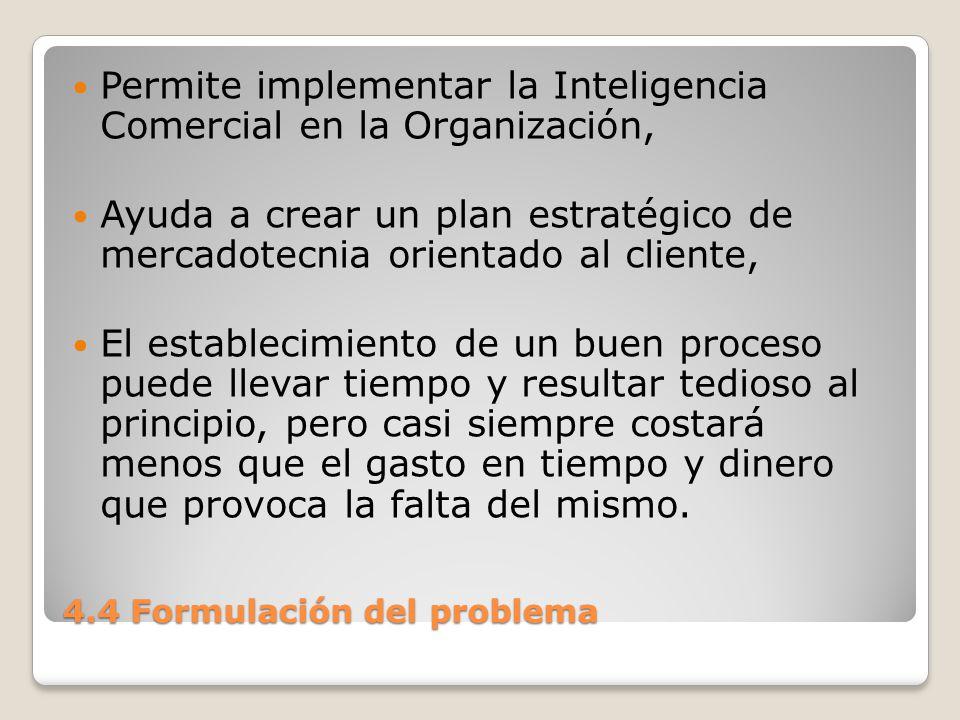 4.4 Formulación del problema Los siguientes términos son fundamentales para comprender la administración de problemas e incidentes: Incidente.