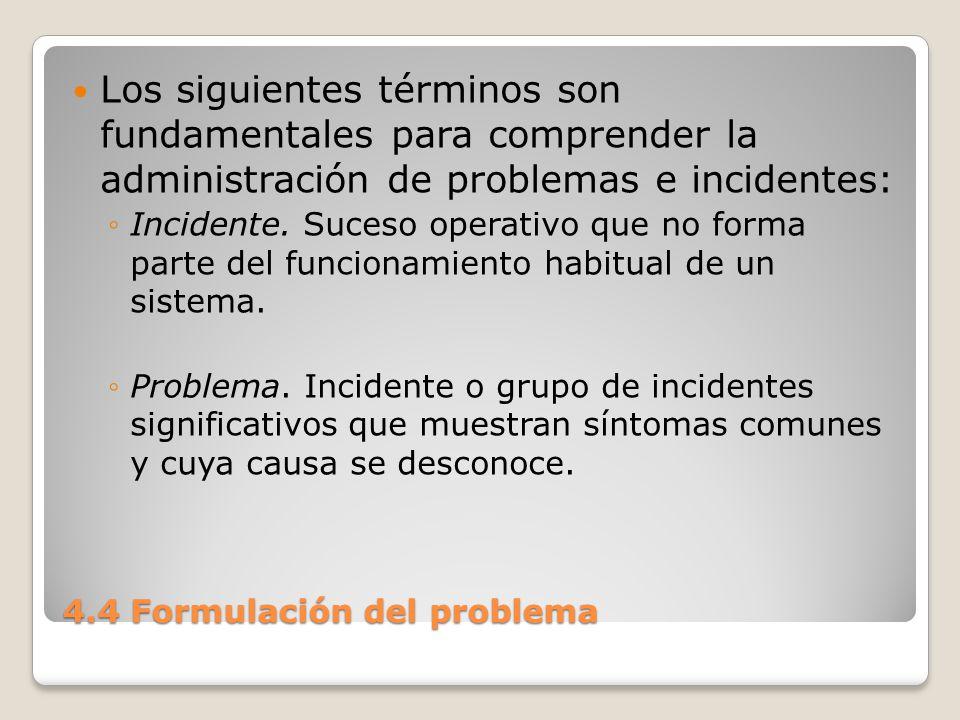 4.4 Formulación del problema Caracterizar problemas solamente como simples o complejos no proporciona discernimiento alguno sobre los métodos de solución que pueden utilizarse para tratarlos.