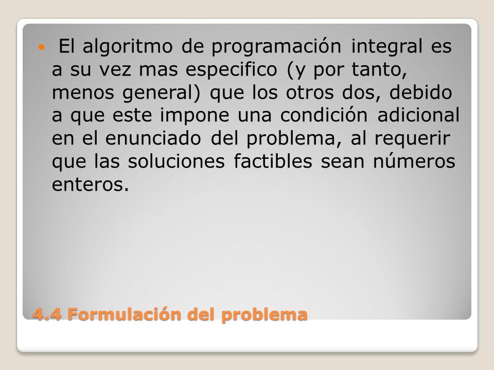 4.4 Formulación del problema 1.