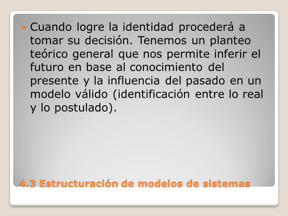 4.3 Estructuración de modelos de sistemas En las decisiones existen sistemas donde prima: El determinismo.