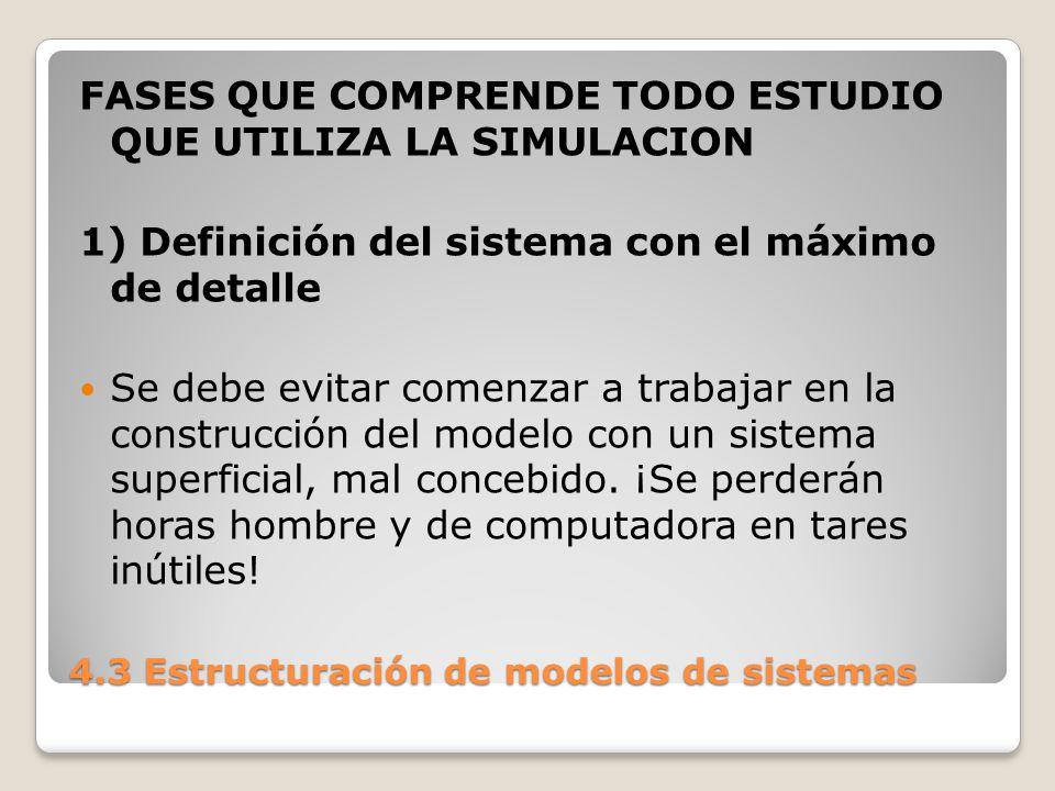 4.3 Estructuración de modelos de sistemas Es un principio comprobado de organización que la incidencia de un error en un proyecto aumenta dramáticamente con el instante en que se lo descubre.