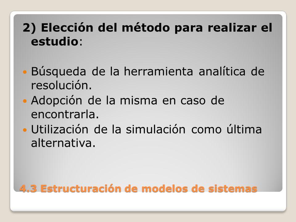 4.3 Estructuración de modelos de sistemas 3) Variables a incluir en el modelo ¿Qué variables, parámetros se incluyen.