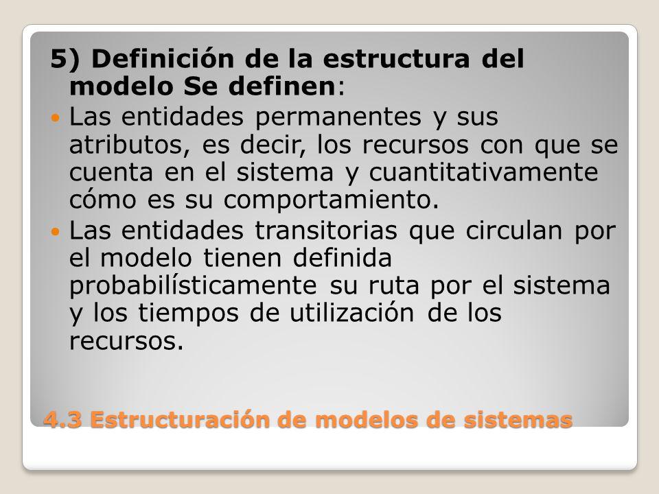 4.3 Estructuración de modelos de sistemas Los eventos que provocan los cambios de estado, modificando los atributos de las entidades.