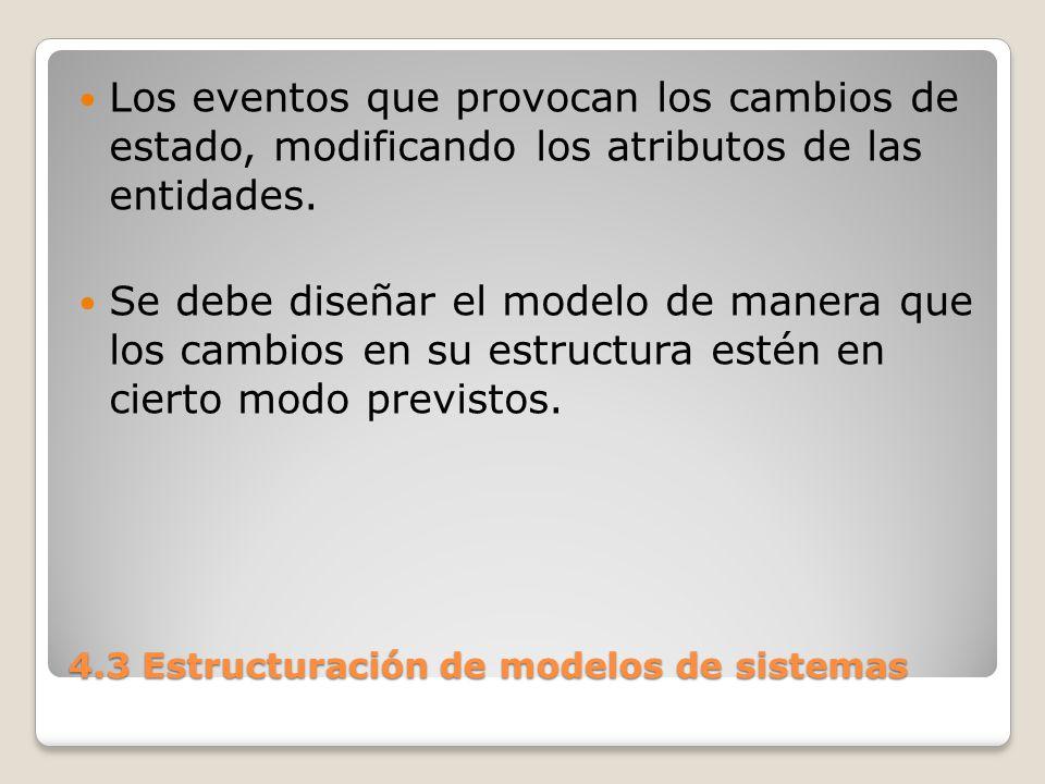 4.3 Estructuración de modelos de sistemas 6) Programación del modelo Objetivo: obtención del programa de computadora que representa el modelo.