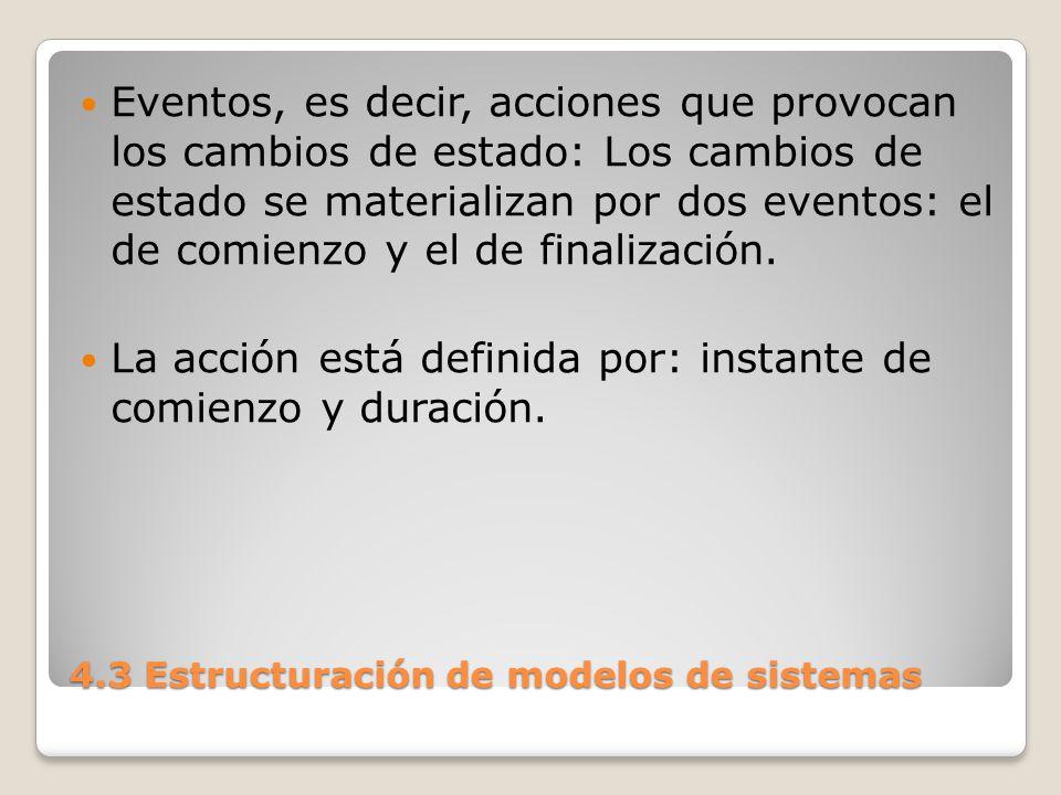 4.3 Estructuración de modelos de sistemas El lenguaje se encarga de hacer finalizar la acción.