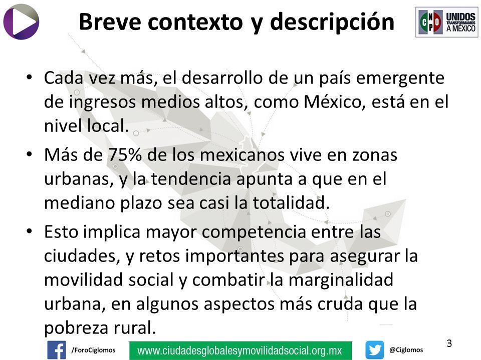 Cada vez más, el desarrollo de un país emergente de ingresos medios altos, como México, está en el nivel local.