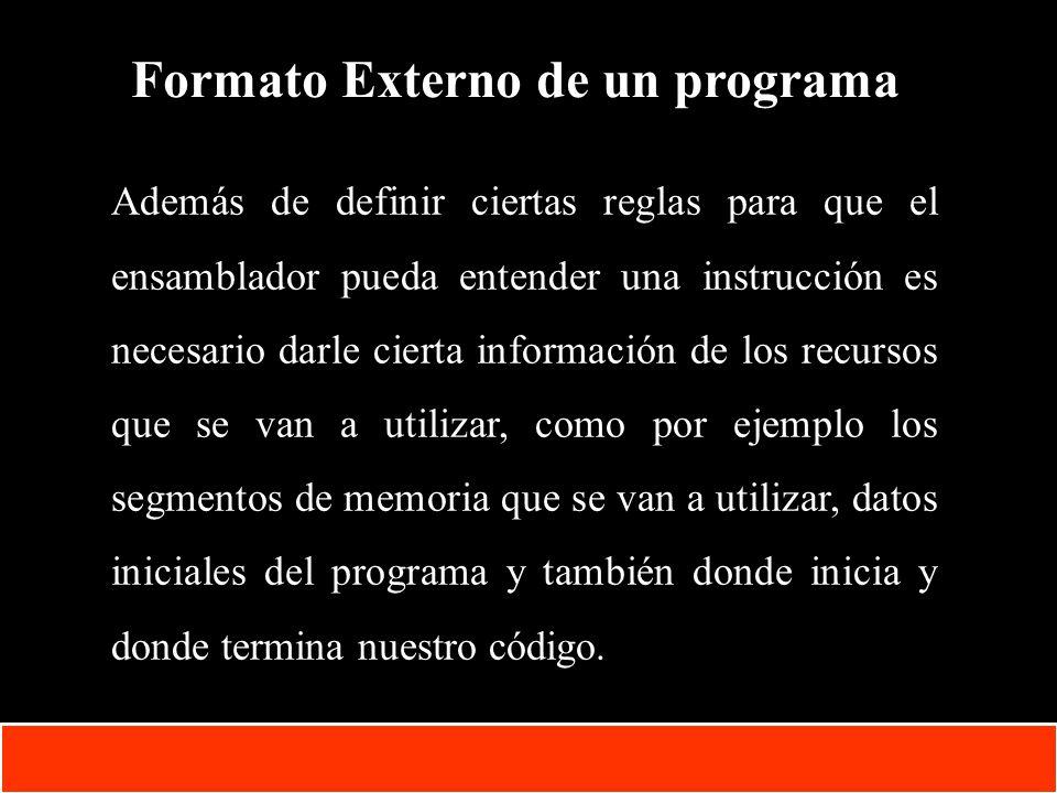 1-12 Copyright © Oracle Corporation, 2001. All rights reserved. Formato Externo de un programa Además de definir ciertas reglas para que el ensamblado