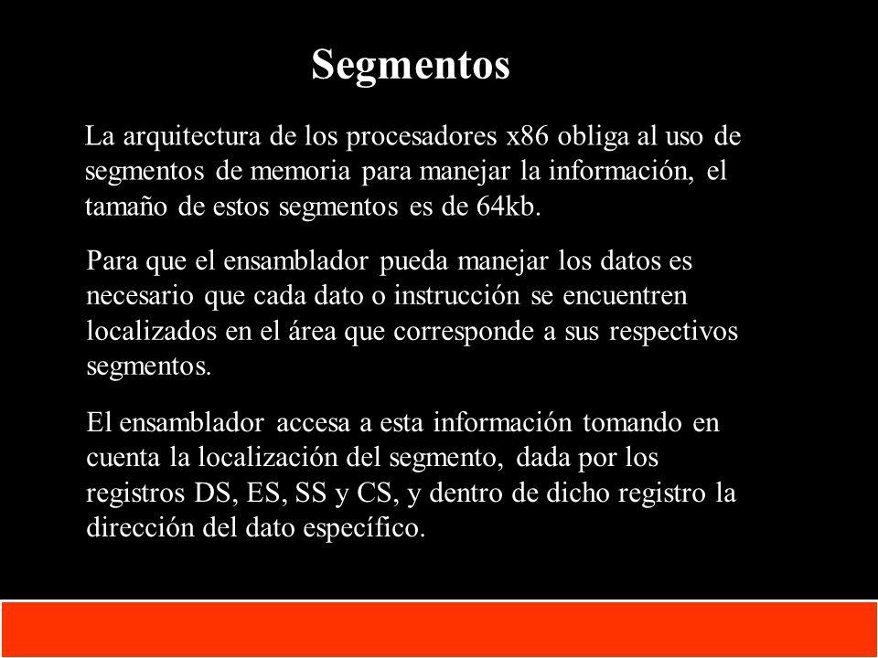 1-15 Copyright © Oracle Corporation, 2001. All rights reserved. Segmentos La arquitectura de los procesadores x86 obliga al uso de segmentos de memori