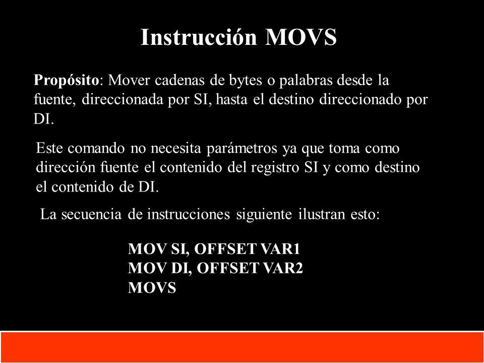 1-32 Copyright © Oracle Corporation, 2001. All rights reserved. Instrucción MOVS Propósito: Mover cadenas de bytes o palabras desde la fuente, direcci