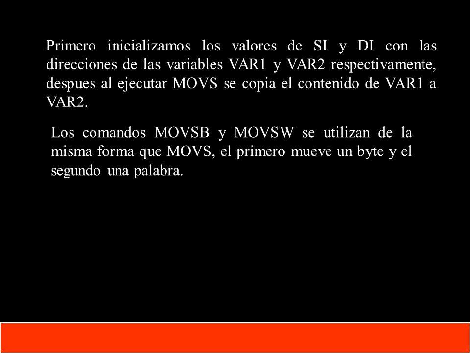 1-33 Copyright © Oracle Corporation, 2001. All rights reserved. Primero inicializamos los valores de SI y DI con las direcciones de las variables VAR1