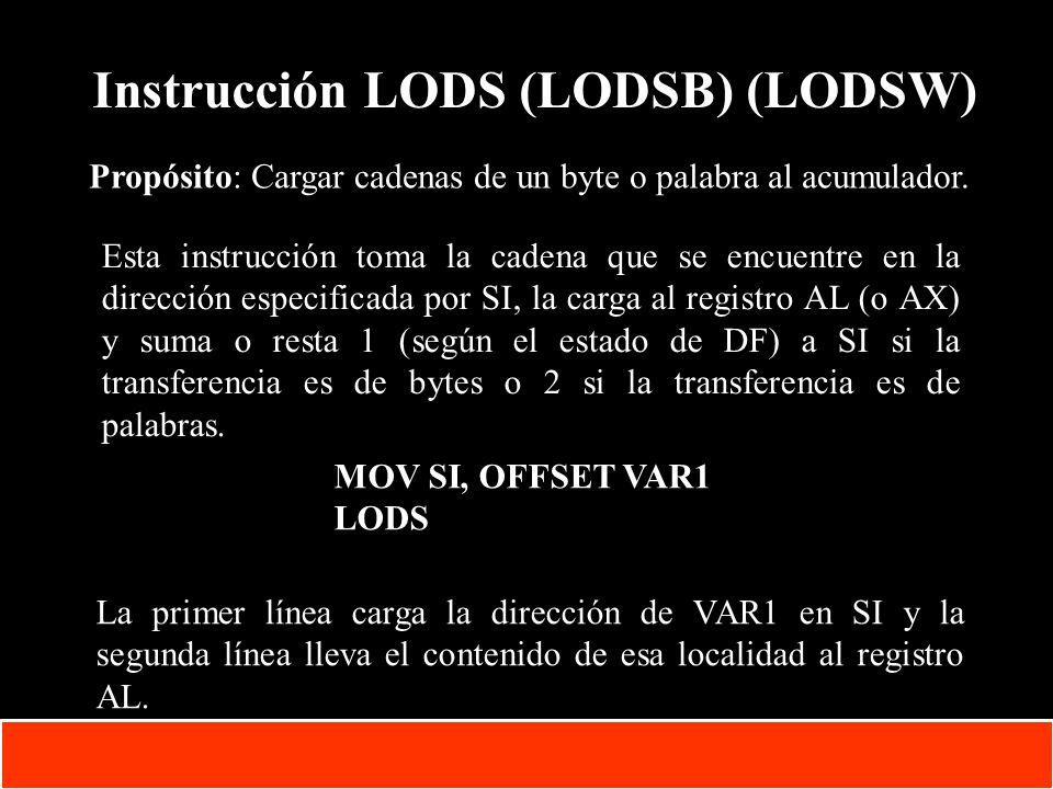 1-34 Copyright © Oracle Corporation, 2001. All rights reserved. Instrucción LODS (LODSB) (LODSW) Propósito: Cargar cadenas de un byte o palabra al acu
