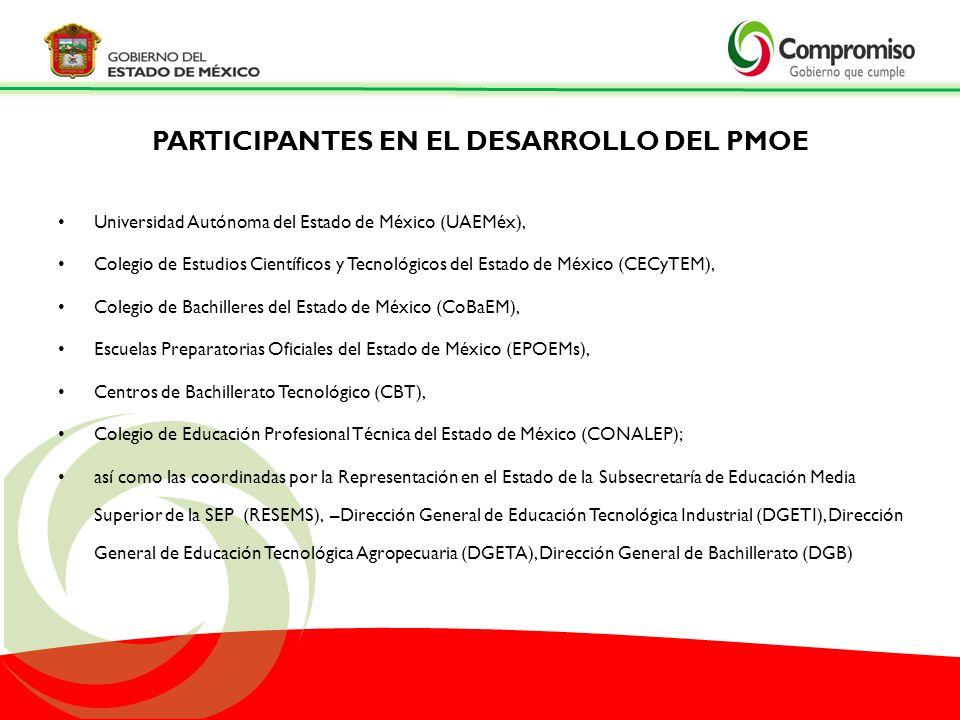 Universidad Autónoma del Estado de México (UAEMéx), Colegio de Estudios Científicos y Tecnológicos del Estado de México (CECyTEM), Colegio de Bachille