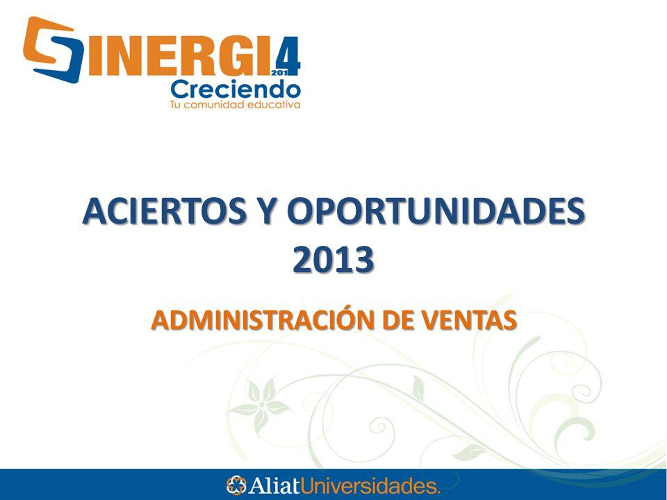 ACIERTOS Y OPORTUNIDADES 2013 ADMINISTRACIÓN DE VENTAS