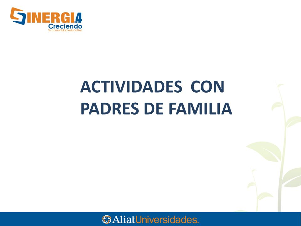 ACTIVIDADES CON PADRES DE FAMILIA