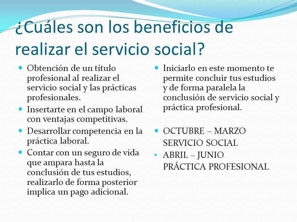 ¿Cuáles son los beneficios de realizar el servicio social? Obtención de un título profesional al realizar el servicio social y las prácticas profesion