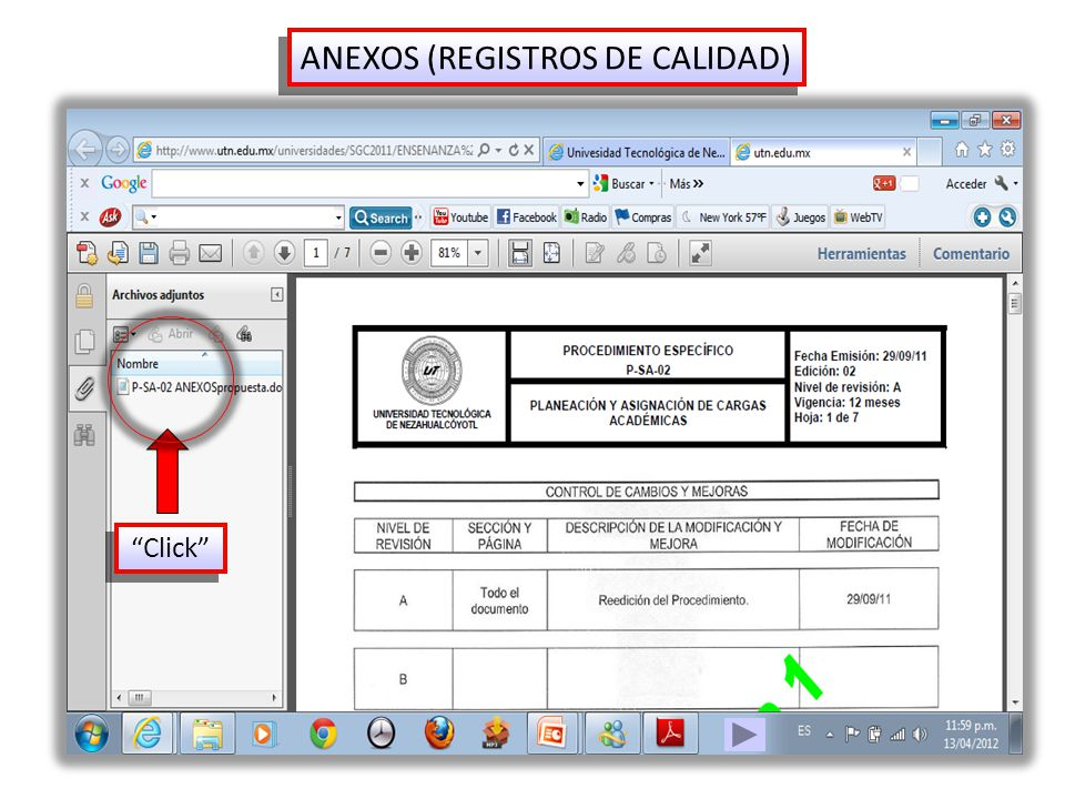 ANEXOS (REGISTROS DE CALIDAD) Click