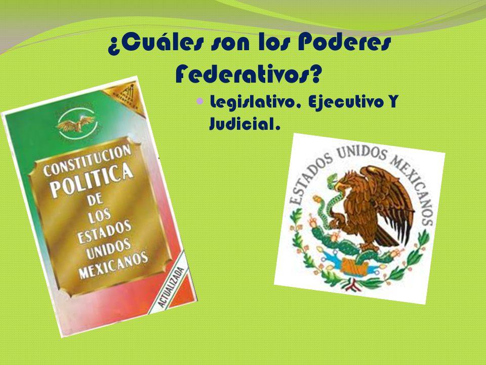 Poder Legislativo Federal Se deposita en el Congreso de la Unión y se divide entre Senadores y Diputados Formada por 128 representantes.