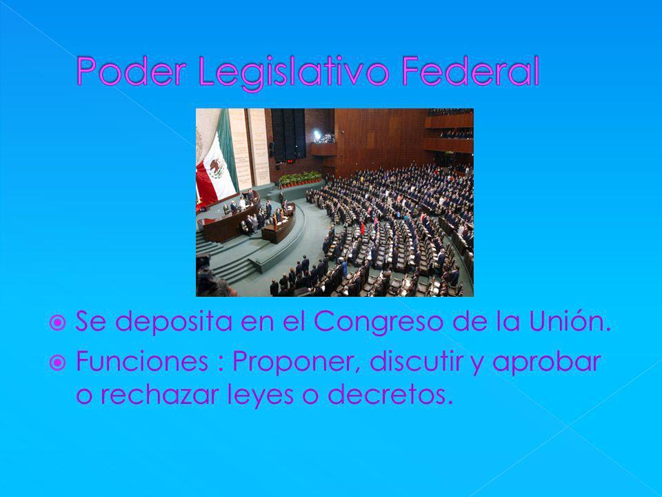 Se deposita en el Congreso de la Unión.