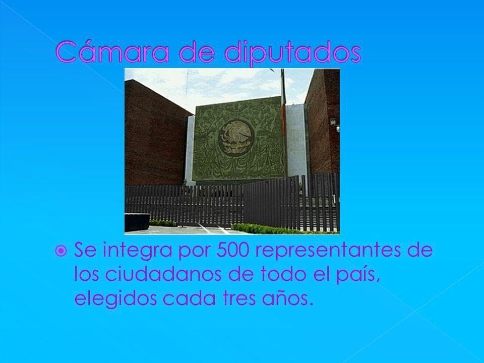 Se integra por 500 representantes de los ciudadanos de todo el país, elegidos cada tres años.