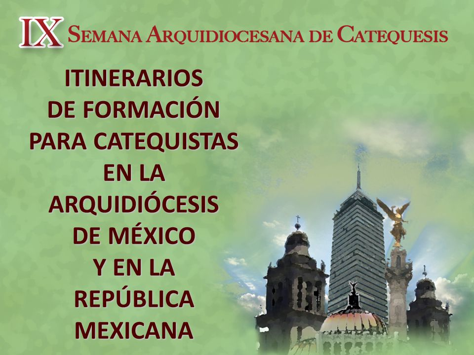 Itinerario Nacional de Formación para los Catequistas (DINPAC)