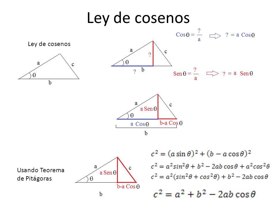 Ley de cosenos Usando Teorema de Pitágoras