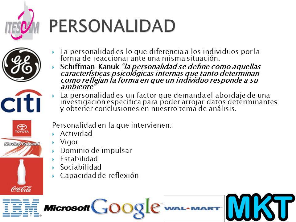 La personalidad es lo que diferencia a los individuos por la forma de reaccionar ante una misma situación.