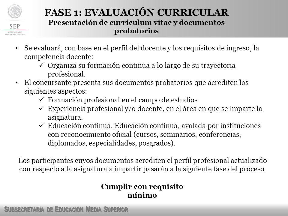 S UBSECRETARÍA DE E DUCACIÓN M EDIA S UPERIOR FASE 2: EXAMEN DE CONOCIMIENTOS Y PSICOMÉTRICO.