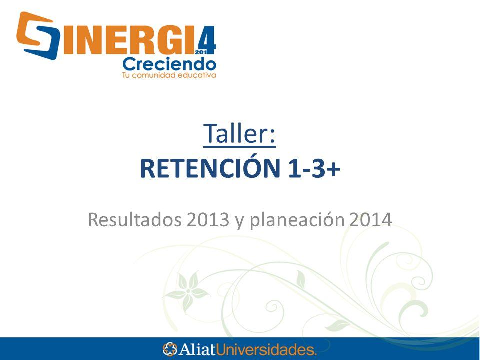 Taller: RETENCIÓN 1-3+ Resultados 2013 y planeación 2014