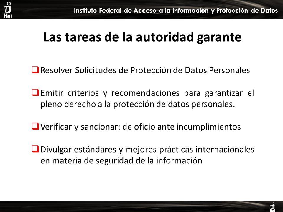 Informe de Autoevaluación primer semestre 2009 Instituto Federal de Acceso a la Información y Protección de Datos Las tareas de la autoridad garante Resolver Solicitudes de Protección de Datos Personales Emitir criterios y recomendaciones para garantizar el pleno derecho a la protección de datos personales.