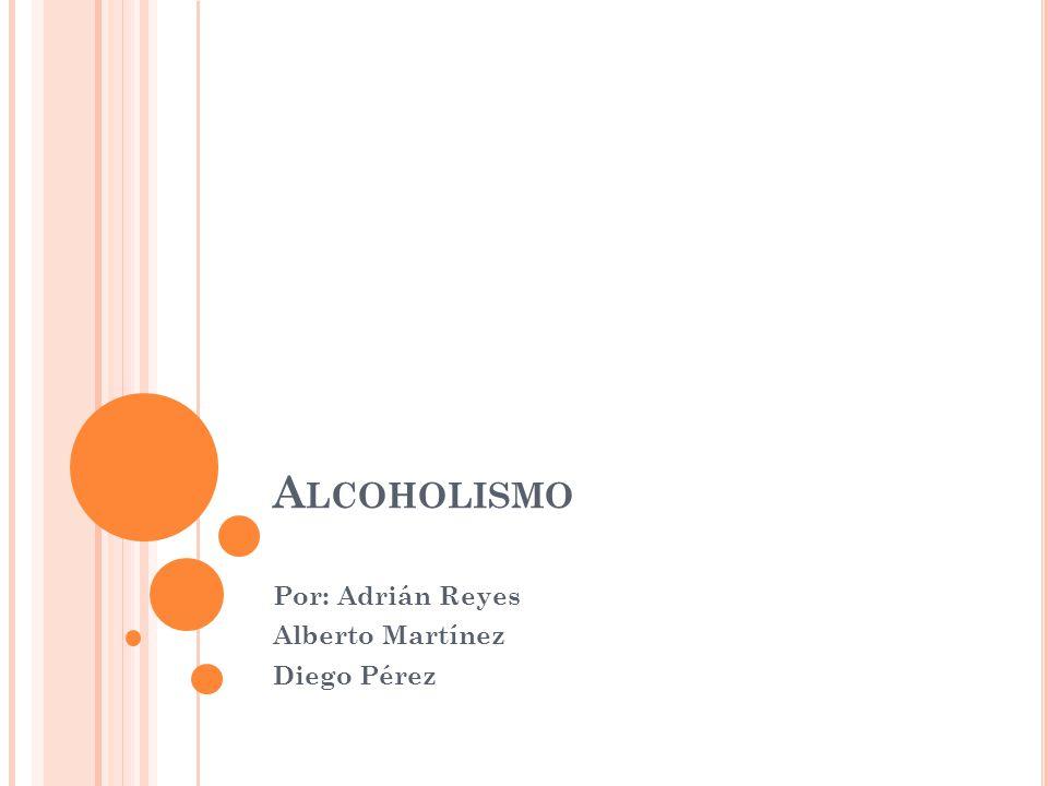 D EFINICIÓN El alcoholismo es una enfermedad que consiste en padecer una fuerte necesidad de ingerir alcohol etílico, de forma que existe una dependencia física del mismo, manifestada a través de determinados síntomas de abstinencia cuando no es posible su ingesta.