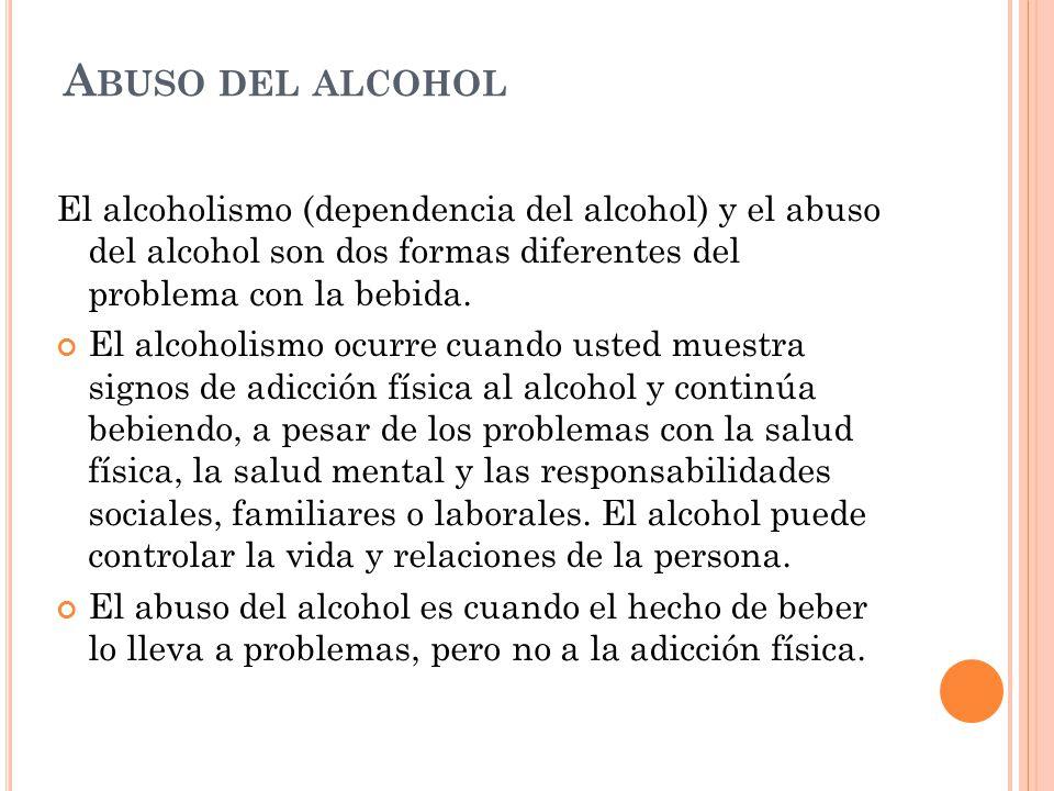 C UANDO ERES ALCOHÓLICO La cantidad de alcohol que uno bebe puede influir en la probabilidad de volverse dependiente.